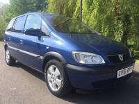 VAUXHALL ZAFIRA 1.6 7 SEATER FULL MOT FIRST TO SEE WILL BUY