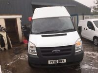 ford transit long wheel base high roof.2010.NO VAT.1 PREV OWNER.LONG MOT.READY FOR WORK