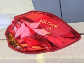 KIA CEED 2014 DRIVER SIDE GINUINE REAR LAMP
