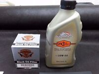 Harley davidson SCREAMIN EAGLE syn3 oil and premium oil filter PART 63731-99A