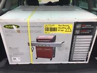 4 gas burner plus side burner brand new