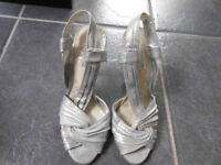 Next Silver Shoes Size 3 Only Worn Once.