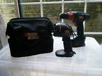 *£10* Black and Decker 14.4 Cordless Drill and Tourch set