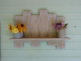 Rustic handmade shelf display