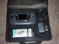 sega game gear with 7 x games and carry case