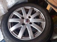 "**Peugeot 206 Tires & Rims** **16-17"" Rims** **FREE SUB WITH PURCHASE** **£110 or Nearest Offer**"