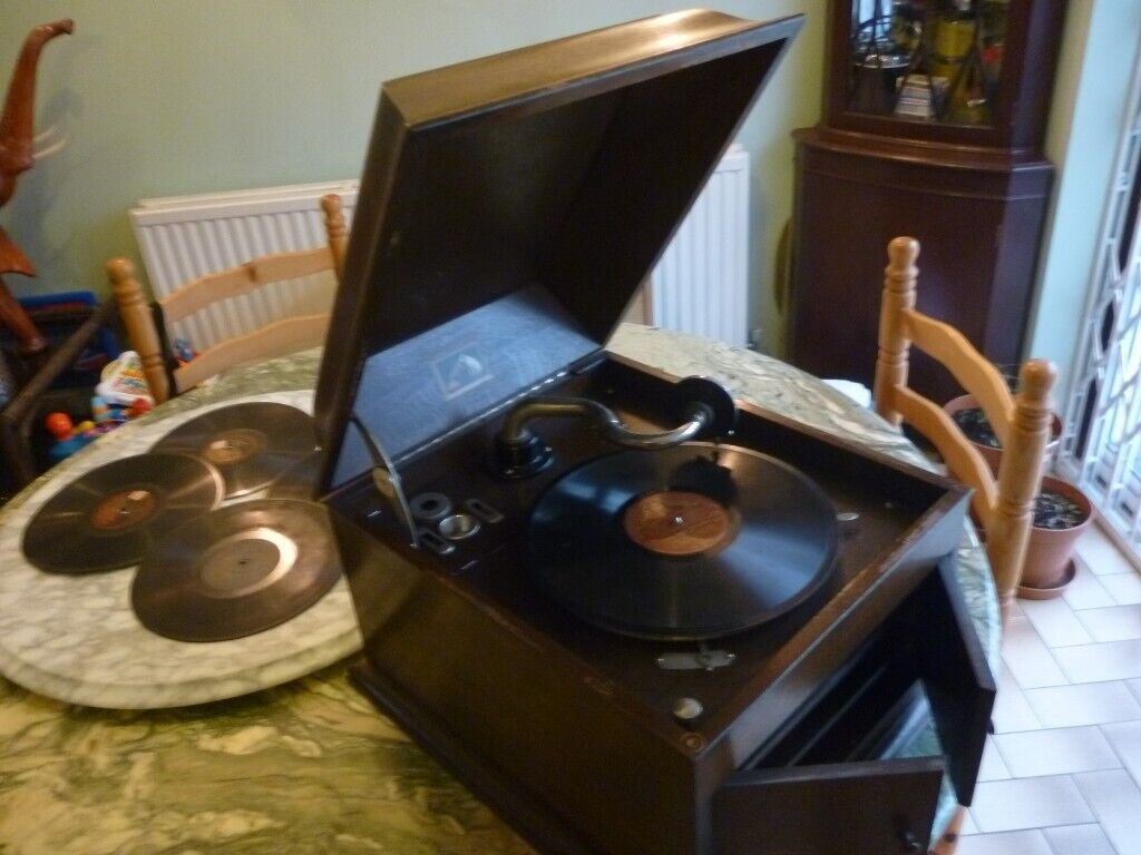 Beautiful Vintage Original Hmv His Masters Voice 78 Speed Portable Tabletop Gramophoneretro Tone In Harrow London Gumtree