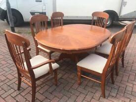 Extendable Dining Table & 6 Chairs - Delivery Available