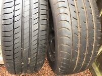 2 Vauxhall Insignia Wheels with tyres and 3 wheel trims