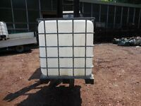IBC WATER TANKS IDEAL FOR HORSES, FISH, ALLOTMENTS GARDENS ETC, CHADDESDEN DERBY