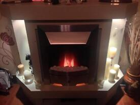 Electric fire with surround excellent condition