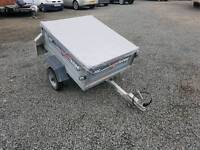 Erde 102 car tipping trailer with waterproof cover