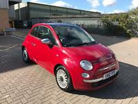 fiat 500 2010 10 plate 1.2 lounge pop panramic glass roof alloy wheels service history