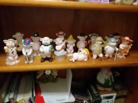 Danbury mint pig ornaments piggy collection