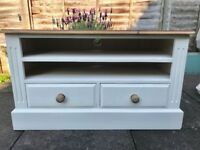 Hand painted solid pine television stand unit ONO