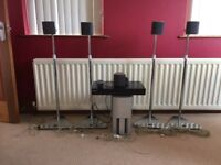Sony Surround sound system. Six speakers, remote, top spec CD player and adjustable stands.