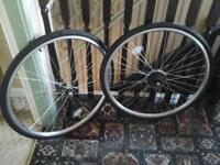 BRAND NEW SET OF 28 INCH WHEELS WITH NEW TYRES AND INNER TUBES £ 15 NO TEXTS PLEASE