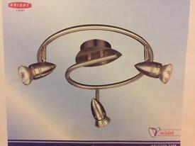 3 lamp circular ceiling light bar NEW