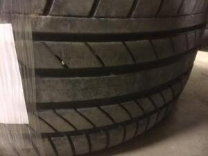 2 pneus d'été, Continental, Contisport Contact, 265/35/18, 40% d'usure, mesure 6-7/32.