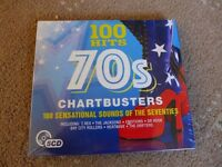 100 hits 70's chartbusters seventies cd. (5 cd's)