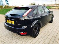 FORD FOCUS 1.6 ZETEC 5d 100 BHP LOW RATE FINANCE CAN BE ARRAN (black) 2009