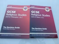 GCSE Religious Studies OCR B Ethics 1 & 2 and Philosophy 1 & 2 revision books Excellent condition