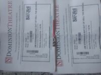 BAT OUT OF HELL - 2 theatre tickets