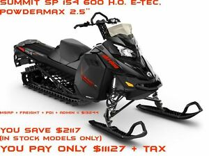 2016 ski-doo Summit SP 154 600 H.O. E-TEC, PowderMax 2.5 E.S. $3