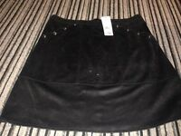 Women's Suede Skirt (Size 14) New