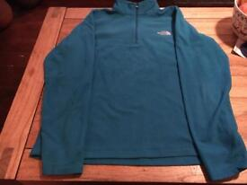 The North Face fleece ladies turquoise LARGE