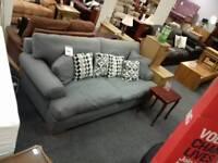 Comfortable grey fabric sofa