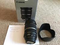 Canon EFS 17-55mm f/2.8 IS USM lens