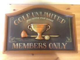Golf Unlimited Sign