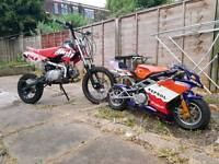 Mini moto(50cc) & dirt bike(140cc)