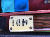 Lewis and Wilson snooker cue3/4 piece
