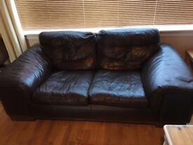 Leather Sofa, Good Condition, £40