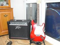 Guitar and amp.