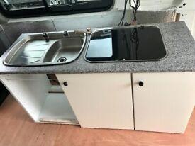 Campervan kitchen cabinet
