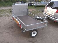FULLY GALVANISED MOBILITY SCOOTER TRANSPORTER CAR TRAILER WITH FOLDING RAMP..