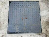Clark Drain Manhole Cover 550mm square. Used. Hurley. Maidenhead