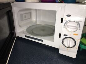 1 year old microwave for sale in good condition
