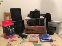 Canon 70D 20.2MP Digital Camera (Black) +Extras