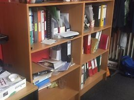 4 Pine finished Office Shelve Units - Great Condition - collection or delivery