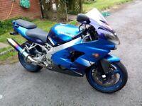 Kawasaki Ninja ZX9R Blue new MOT & Rear Tyre, Only 13000 Miles
