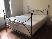 King metal bed frame.