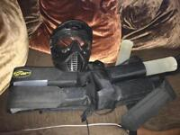 Paint balling mask and accessories belt