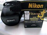 EXCELLENT Condition Nikon D5100 + Wide&Macro Lens Convertor