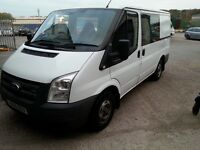 ford transit, full service history,very tidy example, long mot,110,factory crew cab,2.2tdci