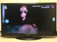 "Sharp led 32"" freeview hd flatscreen tv"