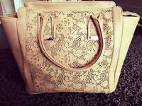 Beige ALDO Leather Handbag